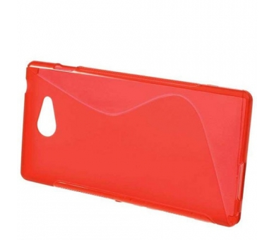 Sony Xperia M2 Case - TPU Case - Color Red  - 5