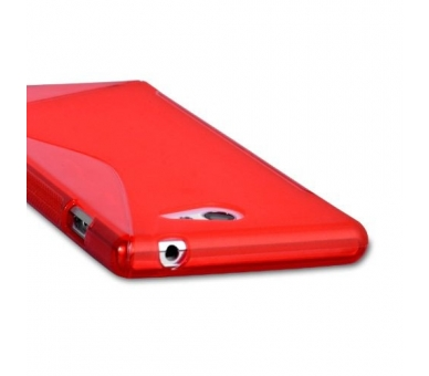 Sony Xperia M2 Case - TPU Case - Color Red - 6