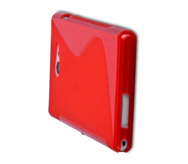 Sony Xperia M2 Case - TPU Case - Color Red  - 7
