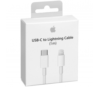 Cable USB-C Tipo C a Lightning Cable 1M Blanco