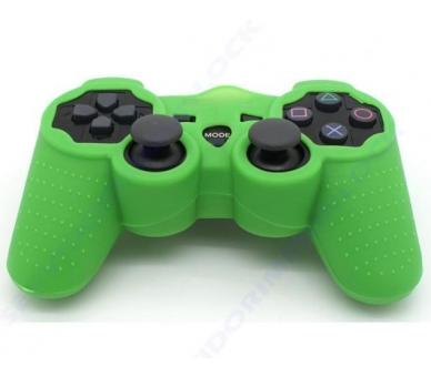 Funda color verde oscuro para mando consola SONY PS3 Dualshock Play 3 Sixaxis  - 1
