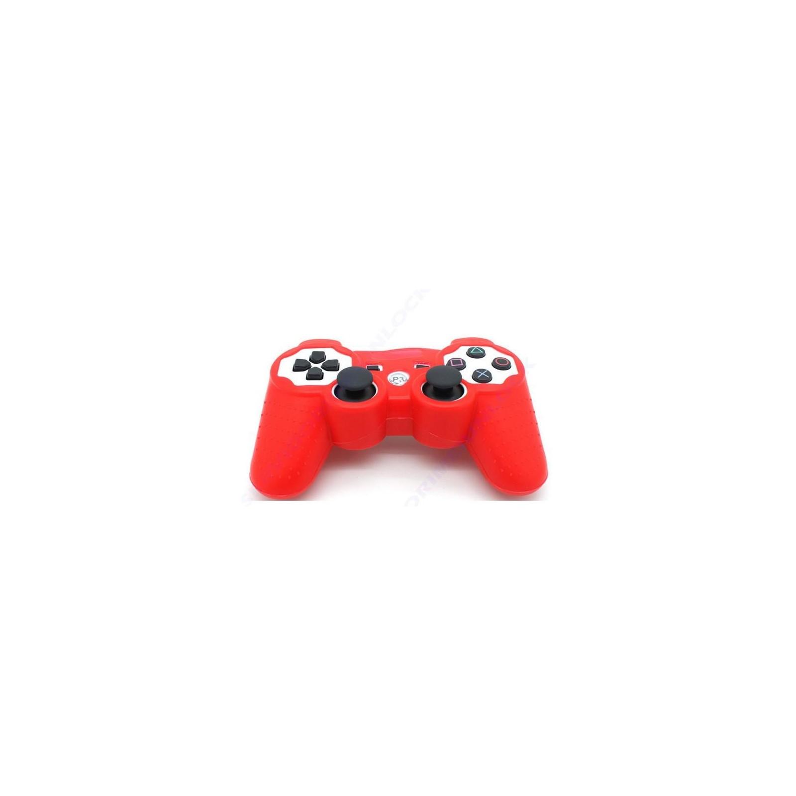 Funda color rojo roja para mando consola SONY Playstation PS3 Dualshock Play 3  - 1