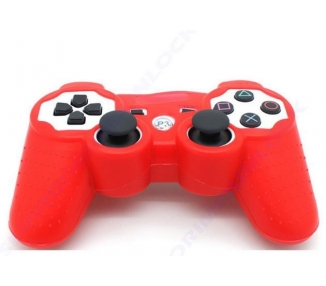 Funda color rojo roja para mando consola SONY Playstation PS3 Dualshock Play 3