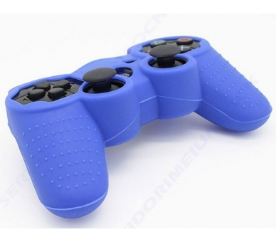 Funda color azul para mando consola SONY Playstation PS3 Dualshock Play 3 - 1