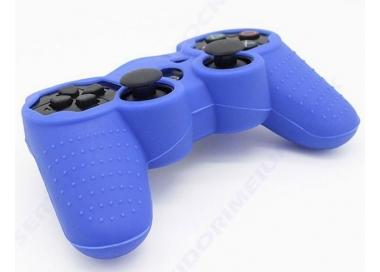 Funda color azul para mando consola SONY Playstation PS3 Dualshock Play 3  - 1