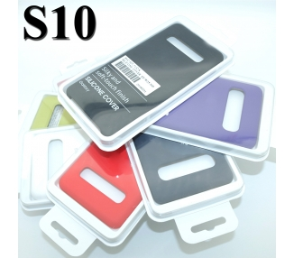 Funda de Silicona Suave Líquida para Samsung Galaxy S10 - Diseño Original
