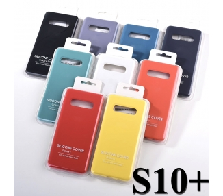 Vloeibaar zacht siliconen hoesje voor Samsung Galaxy S10 Plus - origineel ontwerp