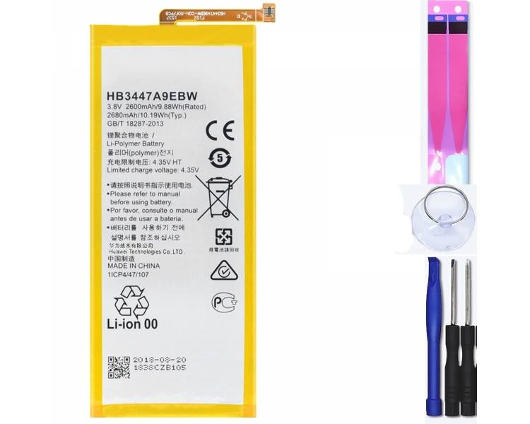 Battery For Huawei P8 , Part Number: HB3447A9EBW ARREGLATELO - 1