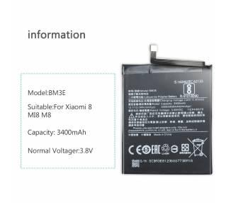 Bateria para Xiaomi Mi8, Mi 8, MPN Original: BM3E  - 9