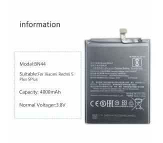Bateria para Xiaomi Redmi 5 Plus, MPN Original: BN44  - 4