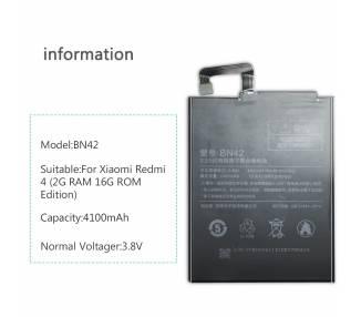 Bateria Interna para Xiaomi Redmi 4, MPN Original: BN42 Xiaomi - 2