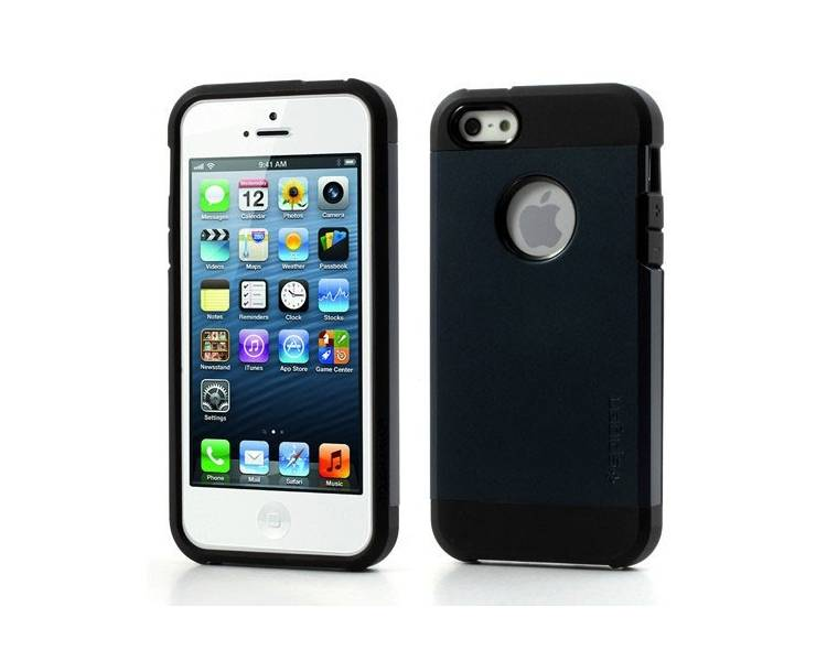 Funda Tough Armor 2ND GENERACION para Apple iPhone 4 & 4S Azul Oscuro  - 1