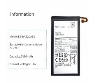 Bateria Interna para Samsung Galaxy A3 2017 A320F - MPN Original EB-BA320ABE Samsung - 4