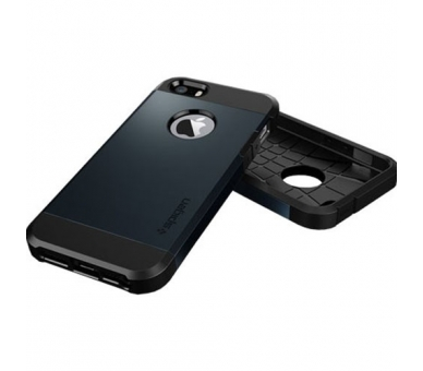 FUNDA SPG SPIGEN TOUGH ARMOR 2ND GENERACION PARA IPHONE 4 & 4s Color Azul Oscuro - 4