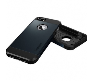 FUNDA SPG SPIGEN TOUGH ARMOR 2ND GENERACION PARA IPHONE 4 & 4s Color Azul Oscuro ARREGLATELO - 4