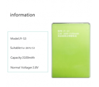 Bateria para Jiayu S3 S3 Advanced S3s Plus, MPN Original: JY-S3 ARREGLATELO - 4