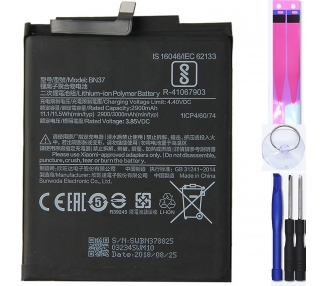 Battery For Xiaomi Redmi 6 , Part Number: BN37 ARREGLATELO - 1