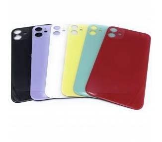 Tapa Trasera Reemplazo de Cristal para iPhone 11 con Agujero Camara Grande