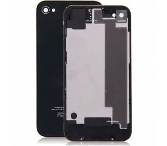 Tapa Trasera de cristal para iPhone 4S Negro Negra
