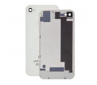Glass Back Cover voor iPhone 4S Wit