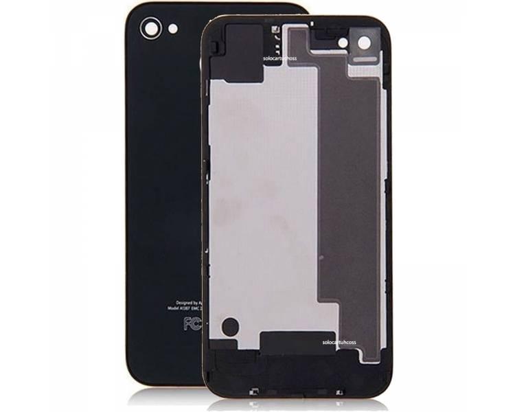 Tapa Trasera para iPhone 4 Negro Negra ULTRA+ - 1