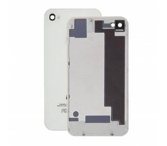 Szklana tylna obudowa do iPhone 4, biała, biała
