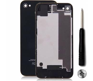 Tapa Trasera de cristal para iPhone 4S Negro Negra & Destornillador ULTRA+ - 1