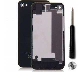 Szklana tylna obudowa do iPhone'a 4S, czarna, czarna i śrubokręt
