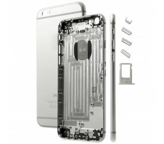 Chasis Carcasa Completa , tapa trasera para iPhone 6 Blanco Plata