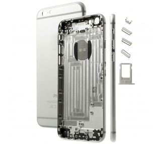 Pełna obudowa obudowy, tylna obudowa dla iPhone 6 White Silver