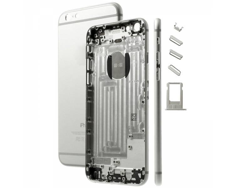Volledige behuizing chassis, achterklep voor iPhone 6 Wit Zilver ARREGLATELO - 1