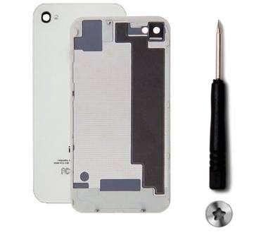 Back cover for iPhone 4 + Screwdriver | Color White ARREGLATELO - 1