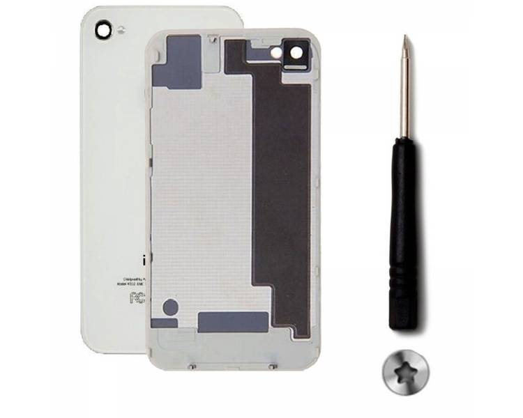Tylna szklana obudowa do iPhone 4 i biały biały śrubokręt