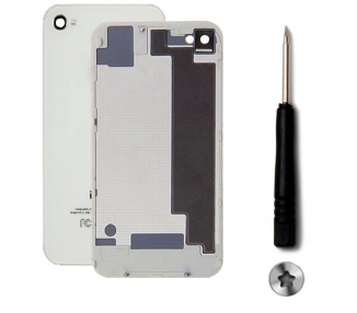Back cover for iPhone 4S + Screwdriver | Color White