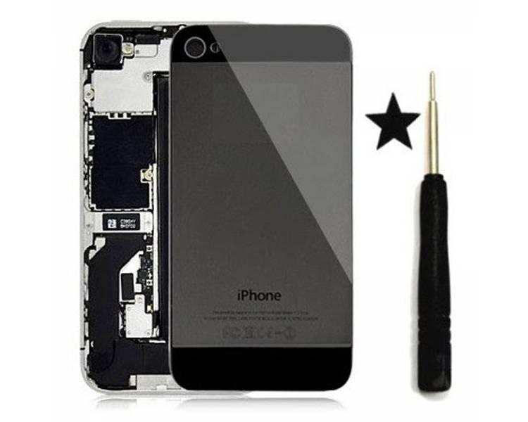 Back Cover Glass Conversion van iPhone 4 naar iPhone 5 Zwart Zwart ARREGLATELO - 1