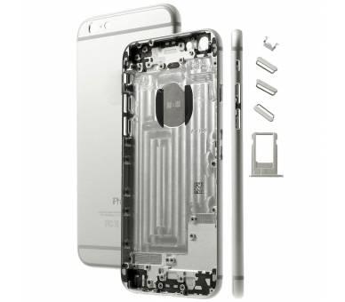 Chassis Behuizing voor Iphone 6 Plus 6+ met Knoppen Componenten Flex Zilver ARREGLATELO - 1