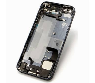 Chasis Carcasa para Iphone SE Bandeja + Botones + Componentes + Flex Gris Apple - 1