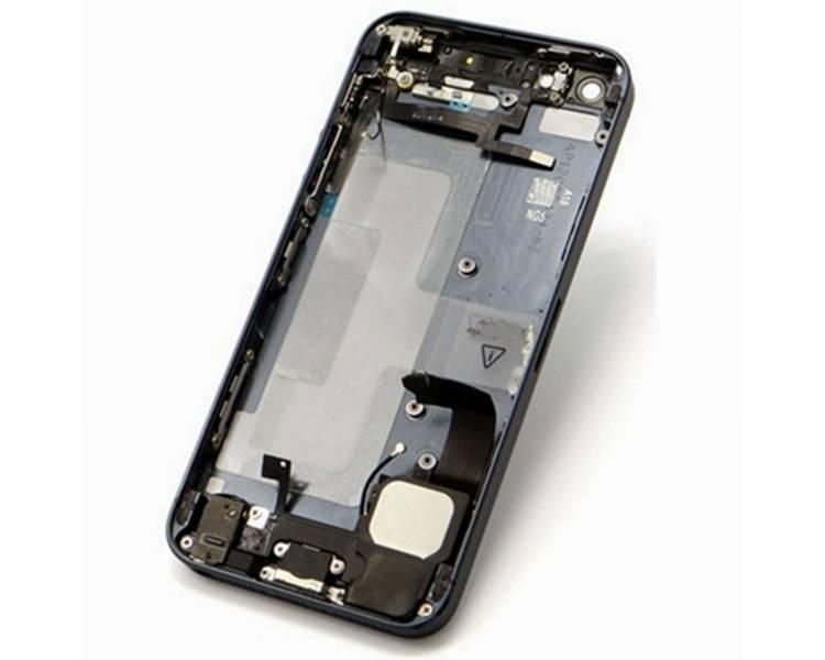 Obudowa obudowy do Iphone SE Tray + przyciski + komponenty + Flex Grey