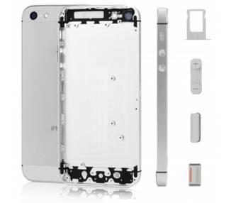 Obudowa obudowy do iPhone'a 5 srebrno-biała