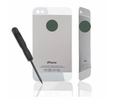 Glazen achterkant voor iPhone 4 Wit Wit, conversie naar iPhone 5 ARREGLATELO - 1