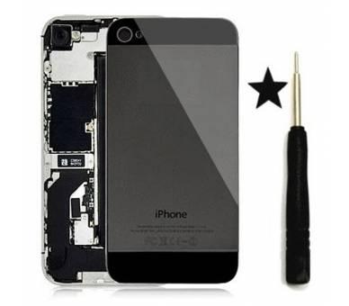 Tapa Trasera de Cristal para iPhone 4 Negro Negra Conversion a iPhone 5 ULTRA+ - 1