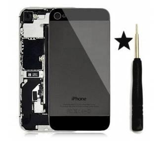 Szklana tylna obudowa do iPhone'a 4 Czarna konwersja do iPhone'a 5