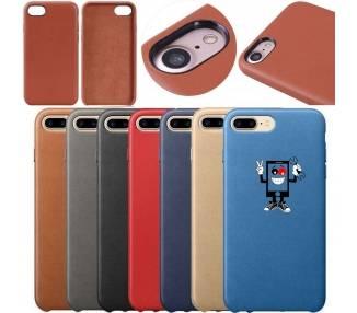 Funda Carcasa de Cuero para iPhone 7 8 7 Plus 8 Plus - Diseño Original