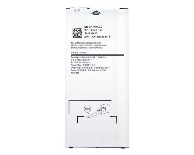 Bateria EB-BA710ABE para Samsung Galaxy A7 A710 2016 - Capacidad Original ARREGLATELO - 1