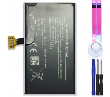 Battery For Nokia Lumia 1020 , Part Number: BV-5XW  - 1