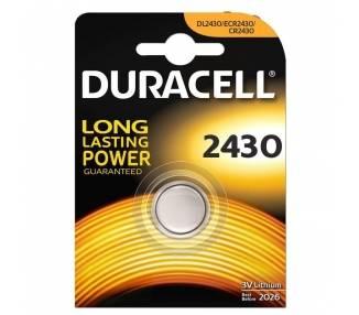 pLas pilas especiales Duracell de boton de litio 2430 estan fabricadas con litio de alta pureza para ofrecer una potencia fiabl