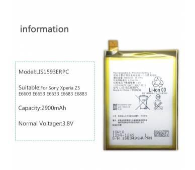 Batterij voor Sony Xperia Z5, Z5 Dual Sim, Z5 DUAL, MPN Origineel LIS1593ERPC ARREGLATELO - 3