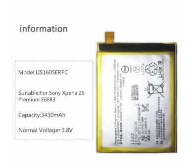 BATERIA Batería LIS1605ERPC Original para Sony Xperia Z5 Premium / Dual /   - 6