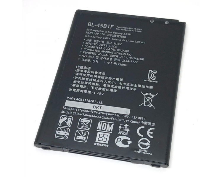 Batterij voor LG V10 H968 F600S F600L Stylus 2 K520, MPN Origineel BL-45B1F ARREGLATELO - 2
