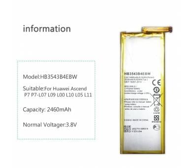 Originele Huawei HB3543B4EBW Batterij voor Huawei Ascend P7 originele P7  - 5